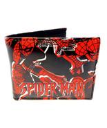MARVEL COMICS AMAZING SPIDERMAN LOGO SUBLIMATED PRINT GRAPHIC MENS BIFOL... - $16.10