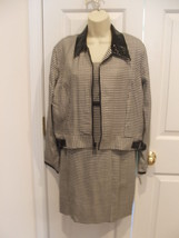 NWT frederick's of hollywood HOUNDSTOOTH dress & jacket set Made in Usa 9/10 - $48.51