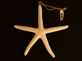 Pottery Barn ceramic starfish  Christmas ornament coastal nautical sealife - $17.81
