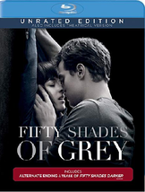 Fifty Shades of Grey (Blu-ray/DVD, 2015, 2-Disc Set, Unrated)