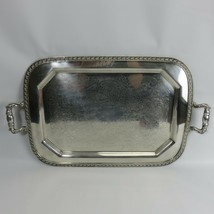 Vintage Sheet Rockford Co Silver Plated Butler Tray 304 vitorian style w... - $85.00