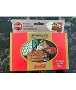 1998 Coca-Cola Santa Playing Cards 2 Decks w/Collectible Christmas Tin - $8.91