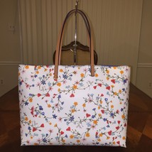 NWT Tory Burch Kerrington Square Tote in New Ivory Delphi - $224.04