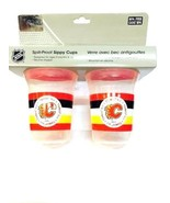 Set of 2 NHL First Time Fan Calgary Flames Spill-Proof Sippy Cups Pair 5 oz - $13.99