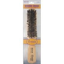 Annie Medium Wooden Brush 5 Row Light Brown 50% Nylon & 50% Black Bristle #2165 - $4.60