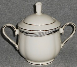 1990s Lenox CITY CHIC PATTERN Sugar Bowl w/Lid MADE IN USA - $39.59