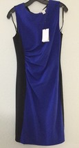 Diane von Furstenberg DVF Laura Shift Dress Cosmic Cobalt/Black sz 10 NW... - $123.75