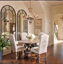XL Arched Window Pane Wall Floor Mirror Palladian Restoration Hardware Style - $1,599.83
