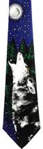 Yellow Eyed Wolf Men's Necktie Gray Wolves Wildlife Nature Gift Animal N... - $15.79