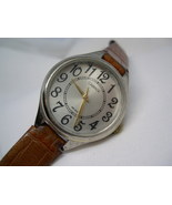 "L49, CARRIAGE by Timex Silver Face Watch, Easy Read, 8"" Brown Leather Band - $15.83"