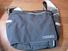 Diaper Bag Ju-Ju-Be Tween Black/Silver excellent condition changing pad ... - $14.84