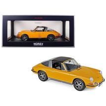 1969 Porsche 911 E Targa Orange with Black Top 1/18 Diecast Model Car by... - $120.86