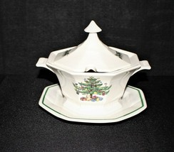 NIKKO Classic Collection Covered Sauce Boat w/ Underplate Christmas Serving Dish - $75.00