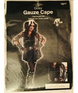 GREY GAUZE CAPE ADULT HALLOWEEN COSTUME PROP Zombie Goth Gothic Women's ... - $4.99