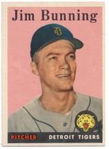 1958 Topps #115 Jim Bunning Tigers UER EX/NM   ID:797083 - $28.50