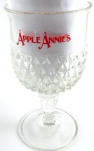 Apple Annies Heavy Clear Glass Hobnailed Footed Goblet Orlando Florida V... - $15.83