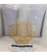 LOT OF 6 LEATHERETTE AN METAL EASEL NECKLACE JEWELRY DISPLAY STANDS - $71.28