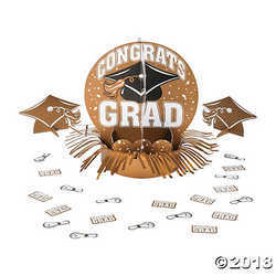 Primary image for Gold Graduation Party Table Decor Kit