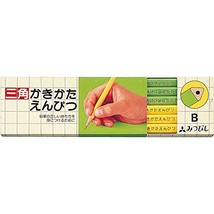 Mitsubishi Pencil Writing pencil triangle axis B yellow-green 1 dozen K4... - $14.44