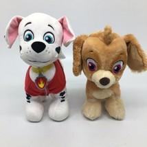 2 Nickelodeon Build A Bear Paw Patrol Dogs Stuffed Animal - Skye & Marshall   - $37.39