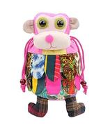 Folk-custom Handmade Monkey Style Shoulder Bag, School Bag for Kids,Pink - $17.71