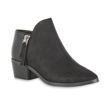 NEW Fashion Womens ankle booties 2 Zipper Low Heel Western Shoes - $29.99