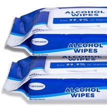 2 Pack Caresour 75% Alcohol-Based Sanitizing Wipes (50-Count)