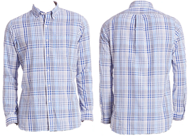 $125 Polo Ralph Lauren Plaid Seersucker Cotton Shirt, White/Blue, Size S - $49.49