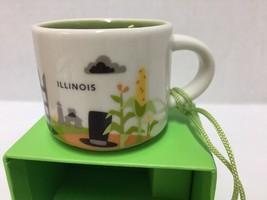 Starbucks Illinois Ornament You Are Here Mini Mug Espresso Cup Ceramic New - $32.71