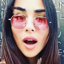 2019 Hexagon Sunglasses Men Brand Designer Small Square Sunglases Women ... - $30.00