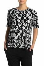 DKNY Black Printed Mesh Back Sleep Shirt - Size M - $17.75