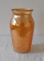 """Vintage Jeannette Glass Iridescent Carnival Tree Bark Pattern 7.5"""" Vase - $9.99"""