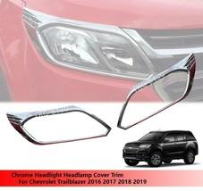 Headlight Head Light Cover Trim For Chevrolet Trailblazer 2016 2017 2018 2019 - $52.98