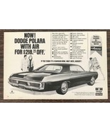 1970 Dodge Polara Print Ad Half Price on Airtemp Air Conditioning - $10.34