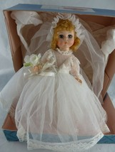 "Vintage Madame Alexander 1970s Doll 8"" Bride  #435  Original Box - $26.72"