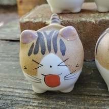 "Ceramic Cat Planters, set of 6, 2.5"" Animal Pots, Emotion Face Kitten Kitty image 6"