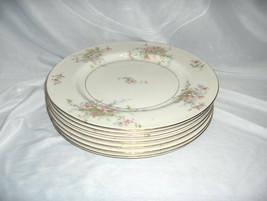 "7 Vintage 10 1/8"" Dinner Plates Theodore Haviland China Apple Blossom New York - $123.75"