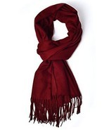 LANGBOHAI Women's Cashmere Feel Scarf Winter Scarves Long Solid Colors O... - $16.99