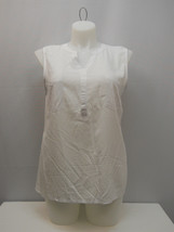 FADED GLORY Women's Woven Top Sleeveless Pullover Solid White SIZE 2XL  - $39.97