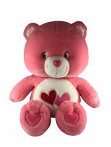 "Vintage 2002 TCFC Care Bears Love A Lot Bear Pink Hearts Large Plush 25"" - $49.49"