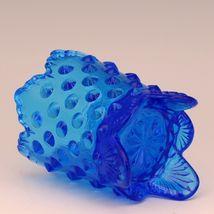 Vintage Fenton Art Glass Colonial Blue Hobnail Toothpick image 3