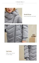 Women's New Style Hooded Solid Casual Short Quilted Puffer Windproof  Parka Coat image 2