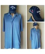 Bobby Jones X-H20 Men's Polo Golf Shirt Blue Striped XL & Callaway Hat Cap - $33.47