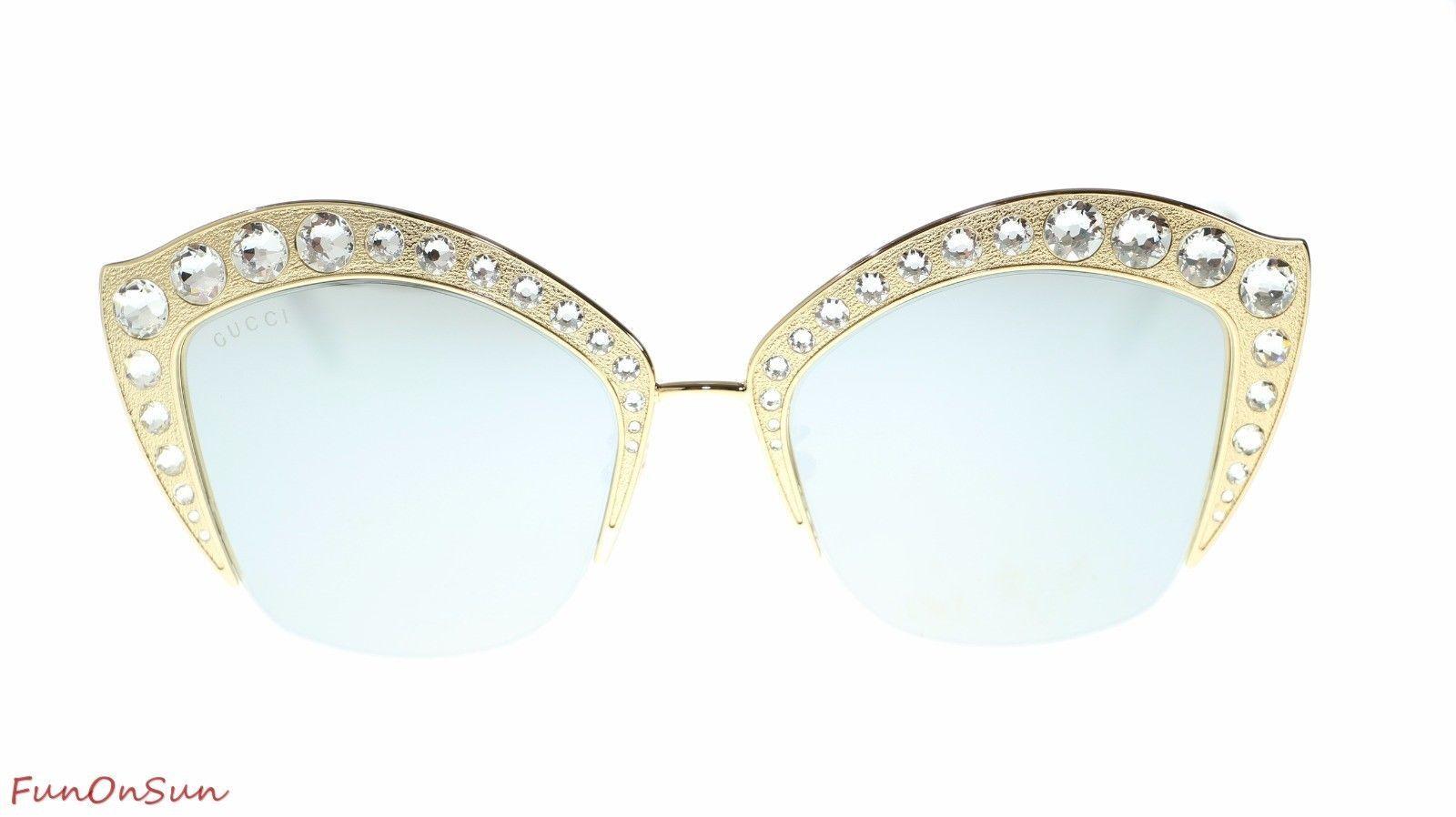 27b4122b8c54 Gucci Women Cat Eye Sunglasses GG0114S 004 and 27 similar items. 10