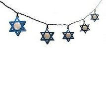 New Kurt Adler UL 10-Light Hanukkah Star of David Light Set - $11.29