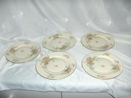 "5 Vintage 6.50"" Bread Plates Theodore Haviland China Apple Blossom New York - $59.40"