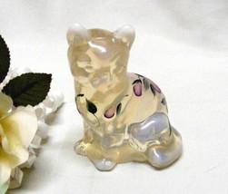 SOLD**3902  Vintage Fenton Handpainted Trellis Sitting Kitty Figurine - $39.50