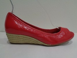Cole Haan Size 9 M AIR TALI Red Patent Leather Wedge Sandals New Womens ... - $117.81