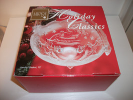 MIKASA HOLIDAY CLASSICS CHRISTMAS SANTA CLAUS BASKET CANDY BOWL DISH - $9.99
