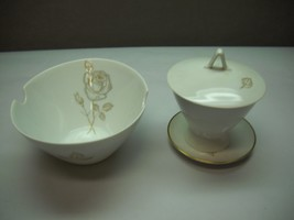 Rosenthal China Sugar Dish With Lid And Small Under Plate With Bowl 2 Indents - $29.69